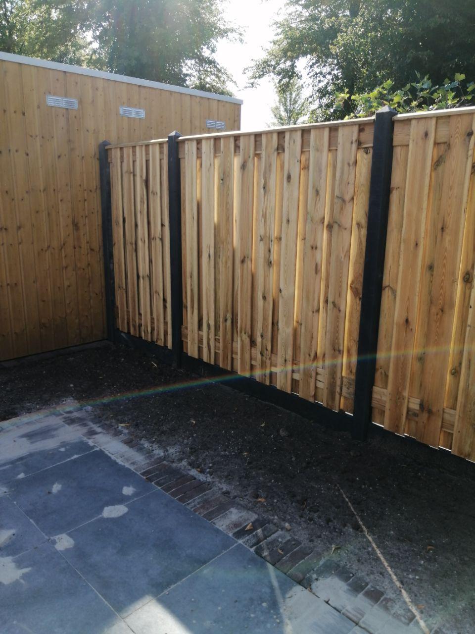 hout beton schutting